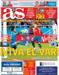 capa Jornal As de 26 junho 2018