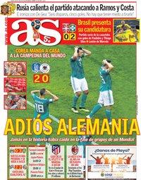 capa Jornal As de 28 junho 2018