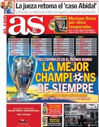capa Jornal As de 30 agosto 2018