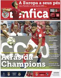 capa Jornal Benfica de 3 agosto 2018