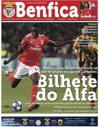 capa Jornal Benfica de 4 outubro 2018