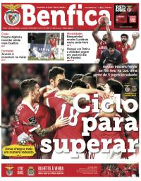 capa Jornal Benfica de 8 fevereiro 2018