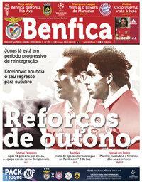 capa Jornal Benfica de 14 setembro 2018