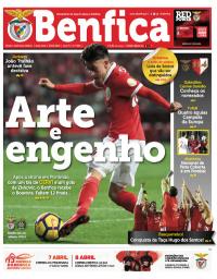 capa Jornal Benfica de 15 fevereiro 2018