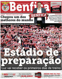 capa Jornal Benfica de 29 junho 2018