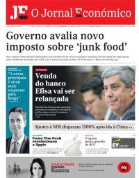 capa Jornal Económico de 1 setembro 2017