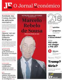 capa Jornal Económico de 2 janeiro 2018