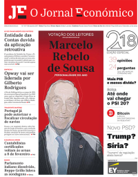 capa Jornal Económico de 3 janeiro 2018