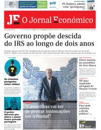 capa Jornal Económico de 8 setembro 2017