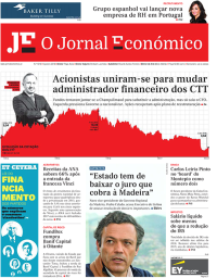 capa Jornal Económico de 11 janeiro 2018
