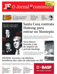 capa Jornal Económico de 15 outubro 2017