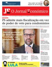 capa Jornal Económico de 22 janeiro 2018