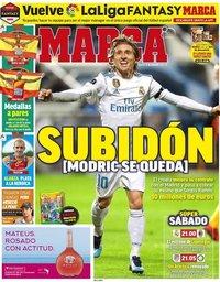 capa Jornal Marca de 11 agosto 2018