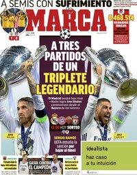 capa Jornal Marca de 13 abril 2018