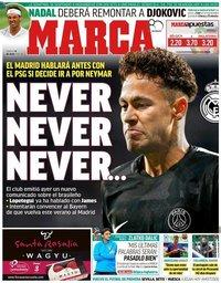 capa Jornal Marca de 14 julho 2018