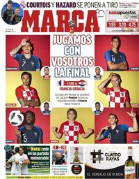capa Jornal Marca de 15 julho 2018