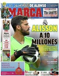 capa Jornal Marca de 18 junho 2018