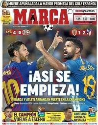 capa Jornal Marca de 19 setembro 2018