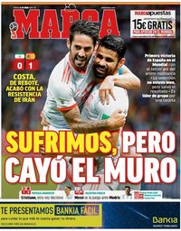 capa Jornal Marca de 21 junho 2018