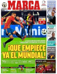capa Jornal Marca de 24 março 2018