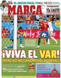 capa Jornal Marca de 26 junho 2018