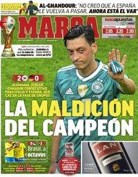 capa Jornal Marca de 28 junho 2018