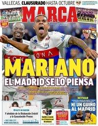 capa Jornal Marca de 28 agosto 2018