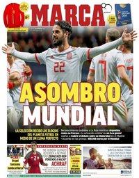 capa Jornal Marca de 29 março 2018