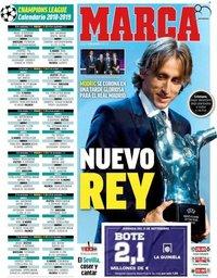 capa Jornal Marca de 31 agosto 2018
