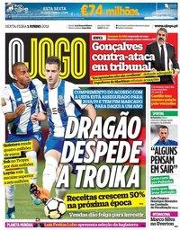 capa Jornal O Jogo de 1 junho 2018