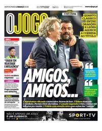 capa Jornal O Jogo de 2 março 2018