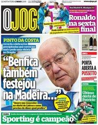 capa Jornal O Jogo de 2 maio 2018