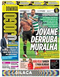 capa Jornal O Jogo de 2 setembro 2018