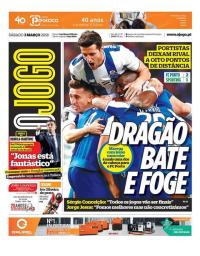 capa Jornal O Jogo de 3 março 2018