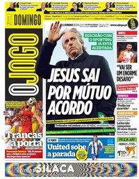 capa Jornal O Jogo de 3 junho 2018