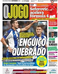 capa Jornal O Jogo de 3 setembro 2018