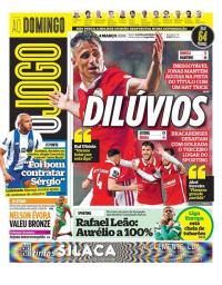 capa Jornal O Jogo de 4 março 2018
