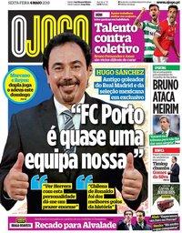 capa Jornal O Jogo de 4 maio 2018