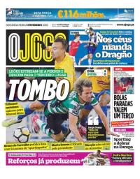 capa Jornal O Jogo de 5 fevereiro 2018