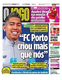 capa Jornal O Jogo de 5 março 2018