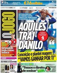 capa Jornal O Jogo de 5 abril 2018