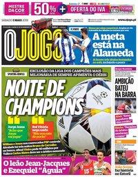 capa Jornal O Jogo de 5 maio 2018