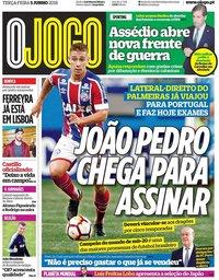 capa Jornal O Jogo de 5 junho 2018
