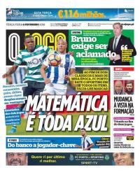 capa Jornal O Jogo de 6 fevereiro 2018