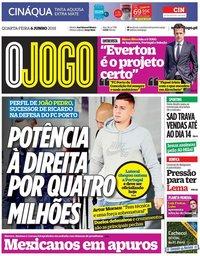 capa Jornal O Jogo de 6 junho 2018