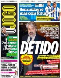 capa Jornal O Jogo de 7 março 2018