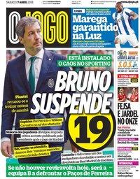 capa Jornal O Jogo de 7 abril 2018