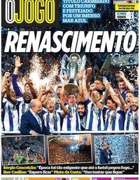 capa Jornal O Jogo de 7 maio 2018