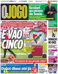capa Jornal O Jogo de 7 junho 2018