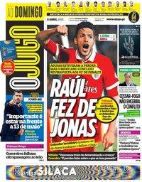 capa Jornal O Jogo de 8 abril 2018